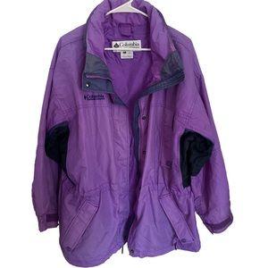 Columbia sportswear outdoor purple jacket